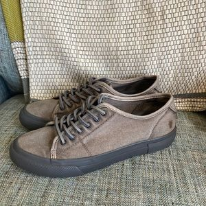 Frye low canvas sneakers with leather laces